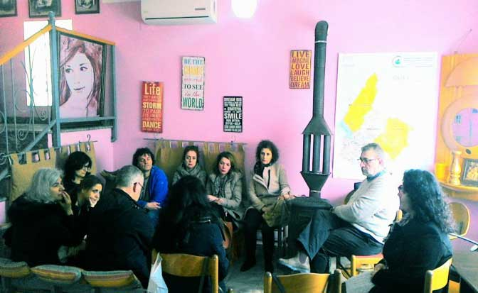 "8 march 2018 Visit  at the Women`s Center  ""Light Steps – Hapat e lehtë"""