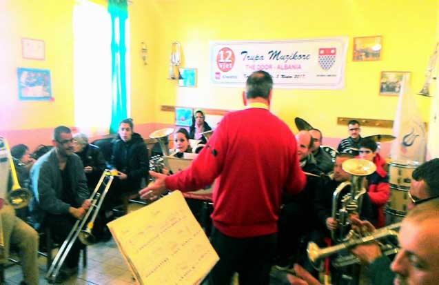 "9 march 2018 Visiting the ""Musical Band per Disability"" part of NGO ""The Door Albania"""