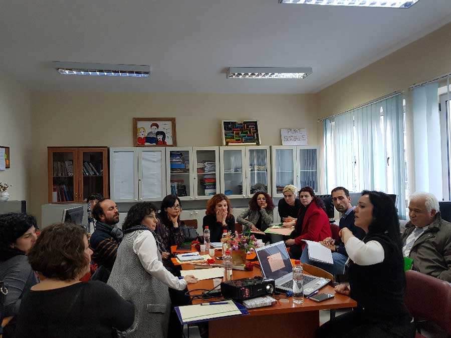 9th of March Elbasan. Meeting at the  Department of Social Work